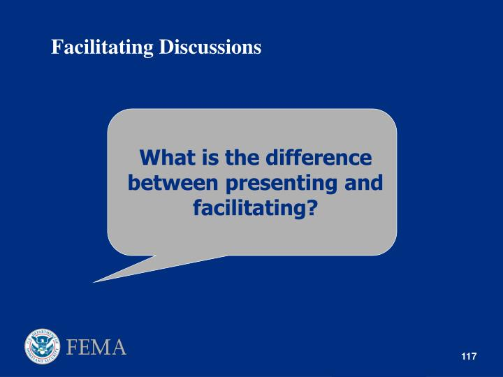 What is the difference between presenting and facilitating?