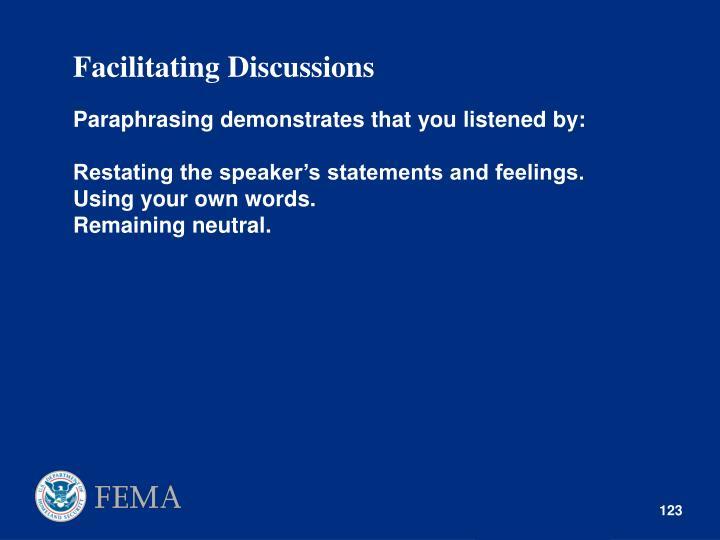 Facilitating Discussions