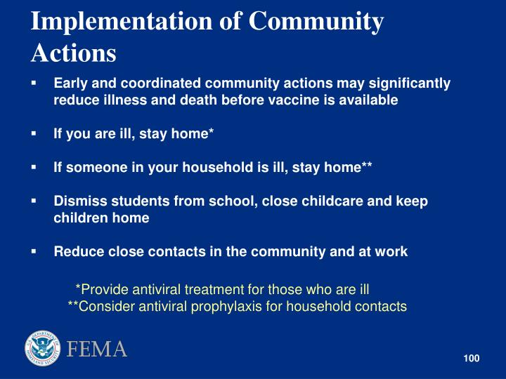 Implementation of Community Actions