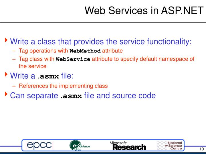 Web writing services ppt in asp.net