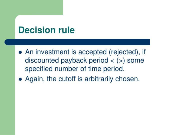 Decision rule