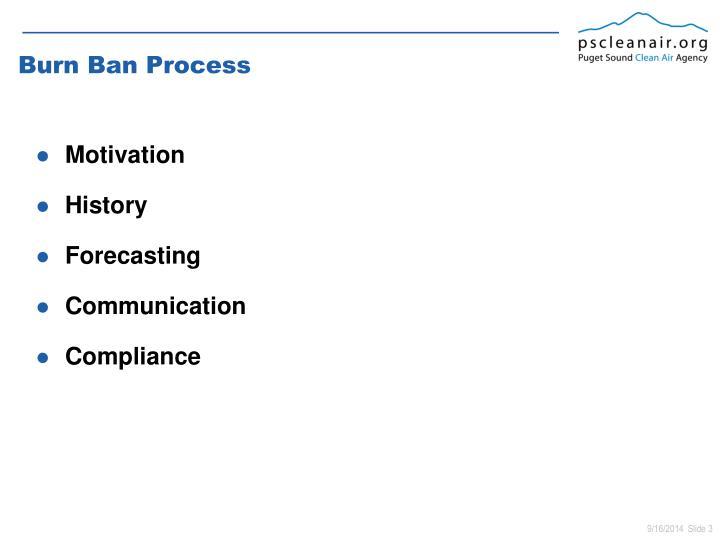 Burn Ban Process