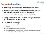 forecasting burns ban s