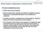 wood smoke complaints enforcement