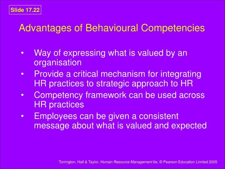 Advantages of Behavioural Competencies