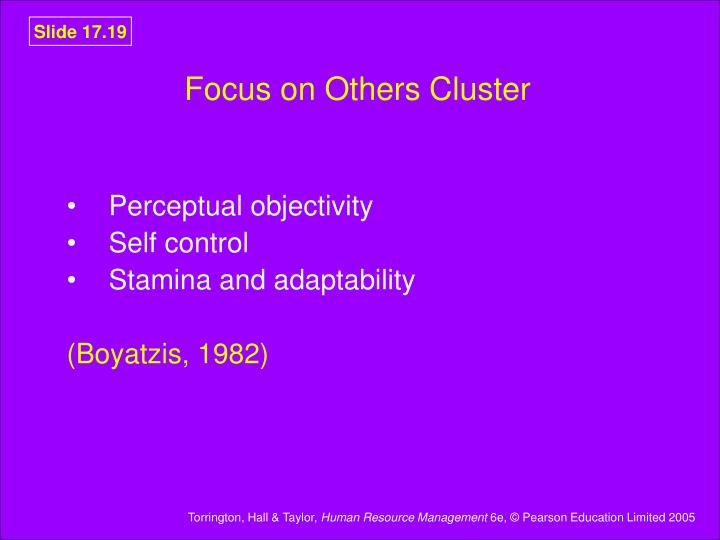 Focus on Others Cluster