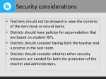 security considerations