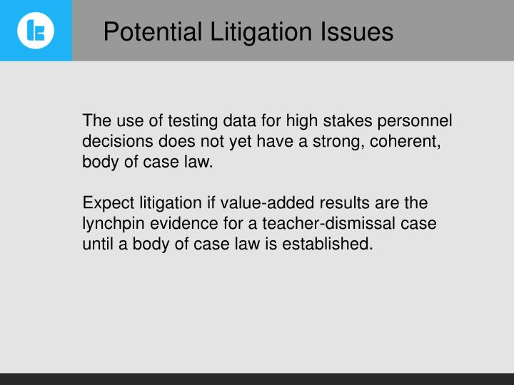 Potential Litigation Issues