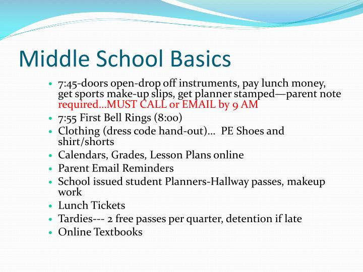 Middle School Basics