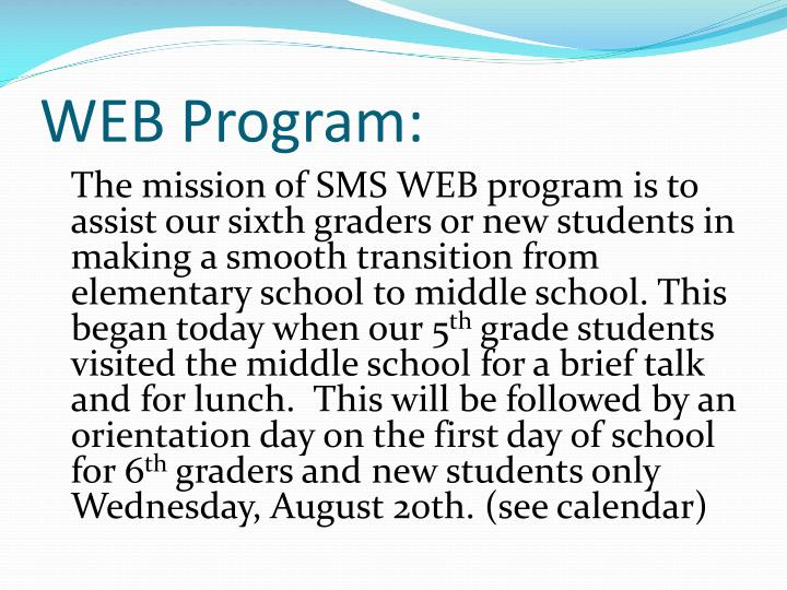 WEB Program: