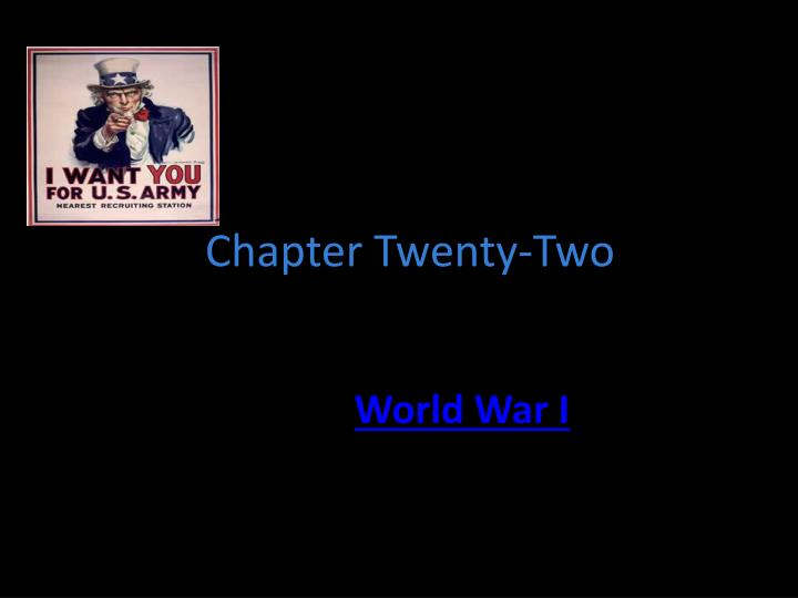 Chapter twenty two