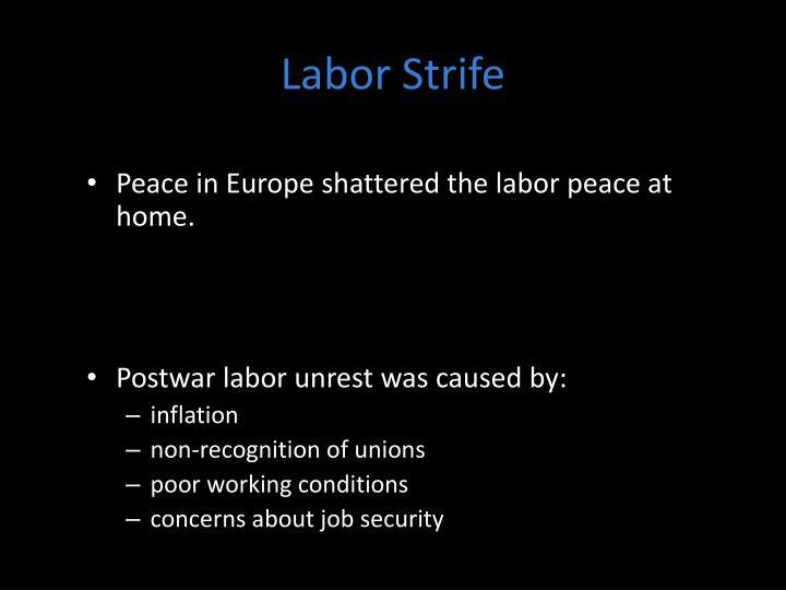Labor Strife