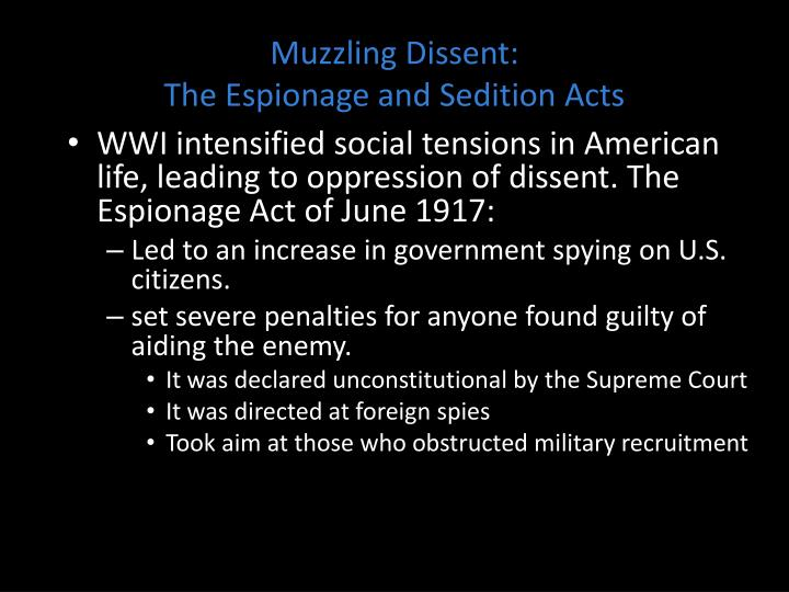 Muzzling Dissent:
