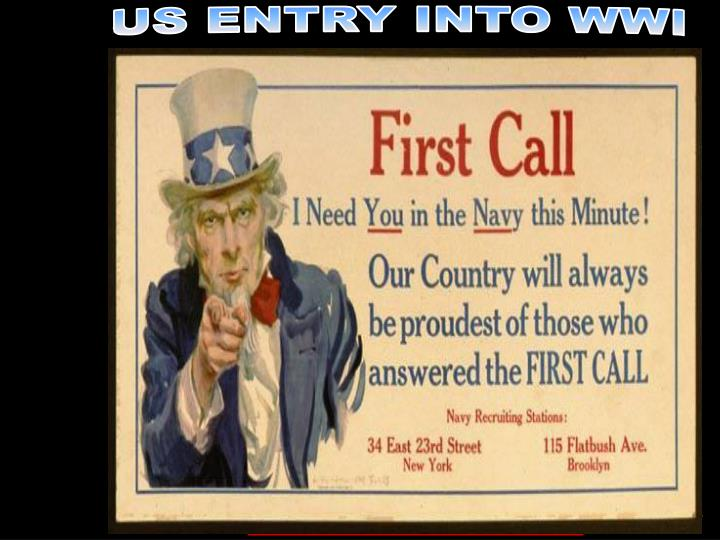 US ENTRY INTO WWI