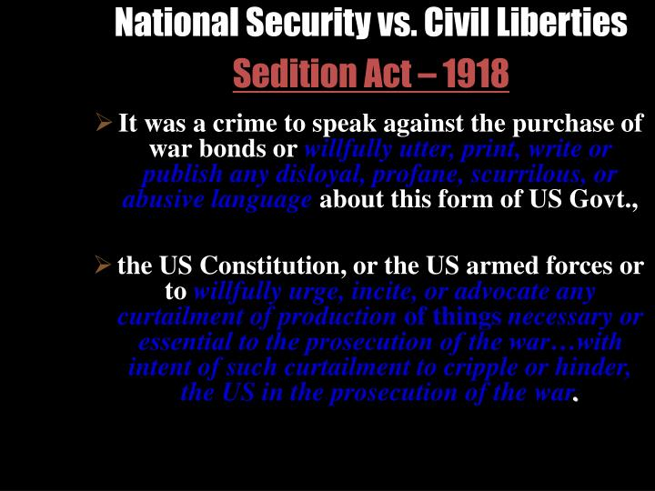 National Security vs. Civil Liberties
