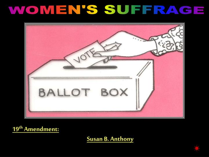 WOMEN'S SUFFRAGE