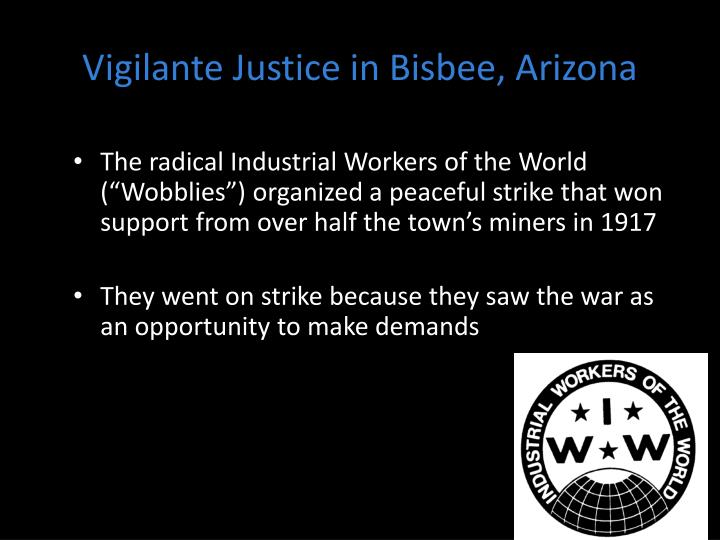 Vigilante justice in bisbee arizona