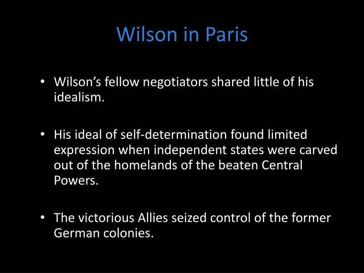 Wilson in Paris