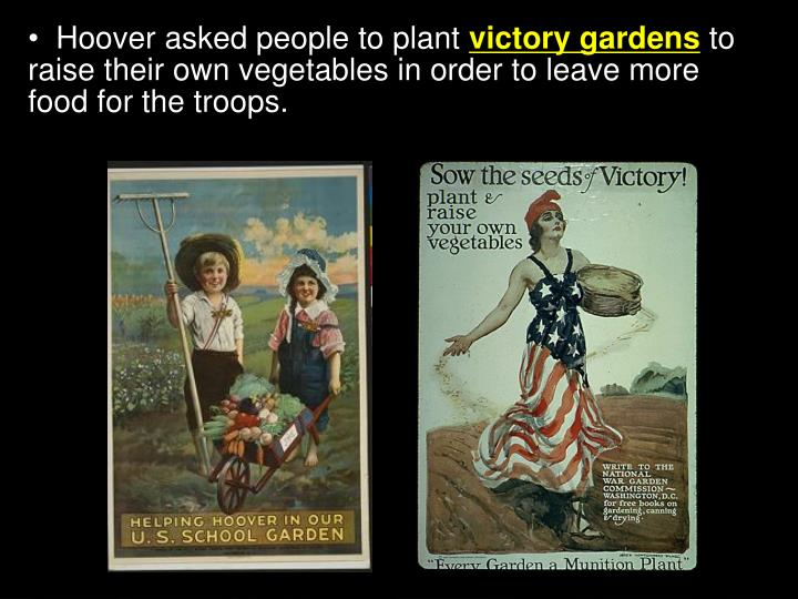 Hoover asked people to plant