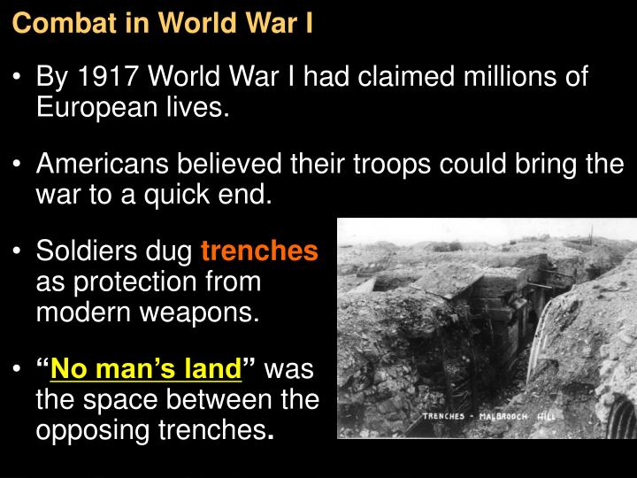 Combat in World War I