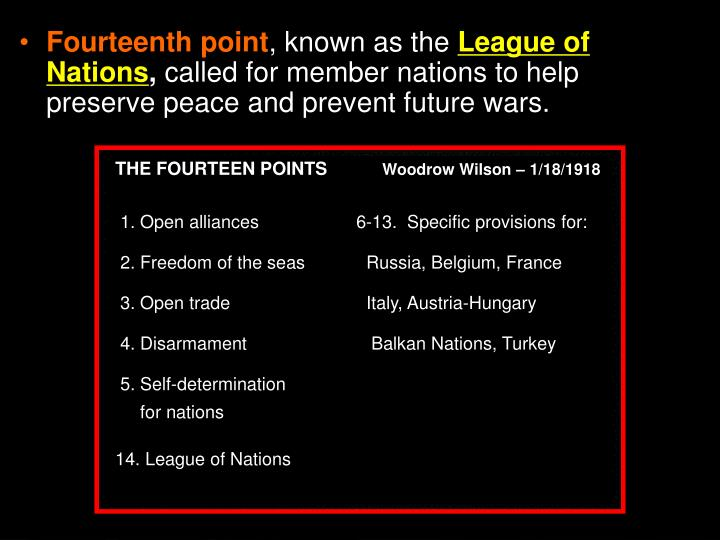 Fourteenth point