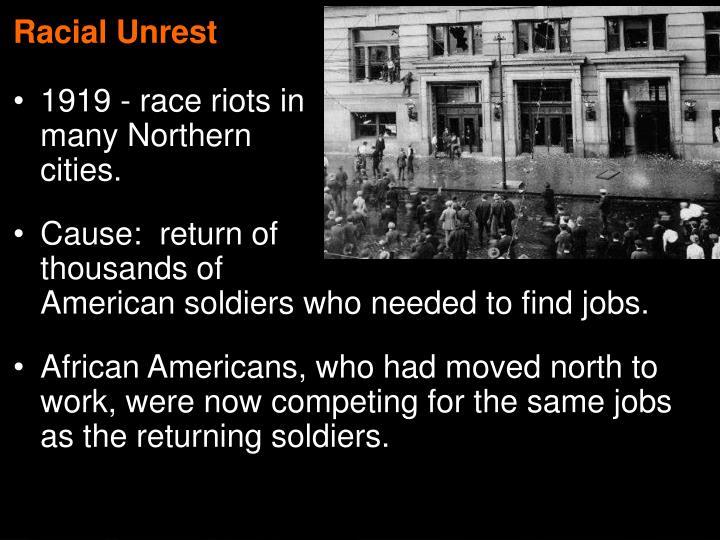 Racial Unrest