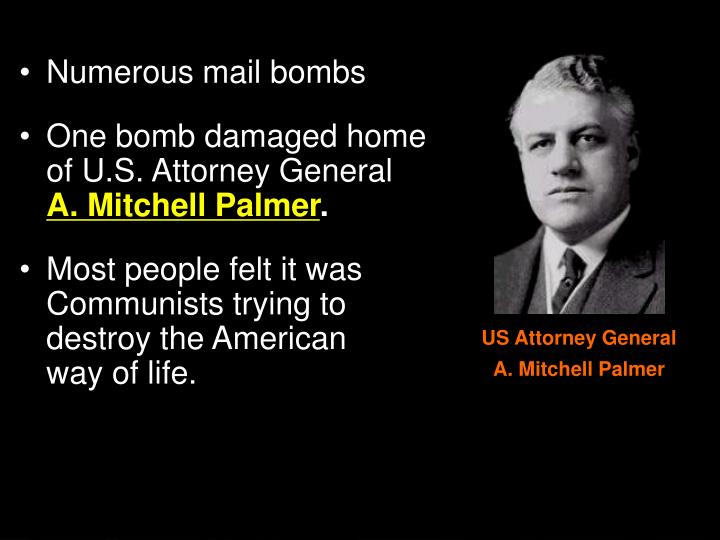 Numerous mail bombs