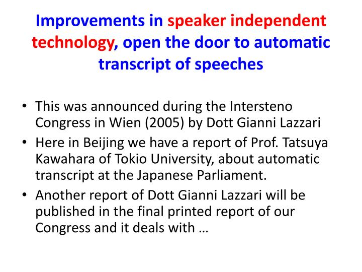 technology improvement after independence This paper presents developments of education in uganda in the last ten years  since the attainment of independence in 1962,uganda has improved on its.
