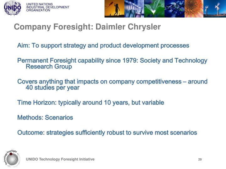 Company Foresight: Daimler Chrysler