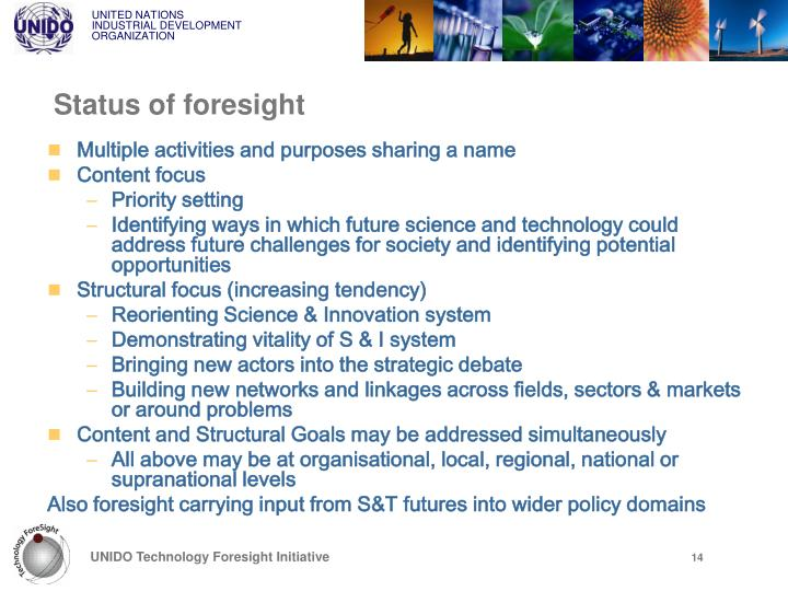 Status of foresight