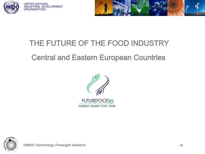 THE FUTURE OF THE FOOD INDUSTRY