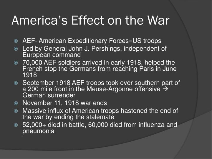 America's Effect on the War
