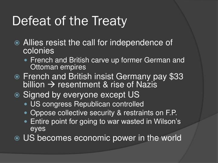 Defeat of the Treaty