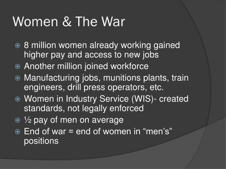 Women & The War