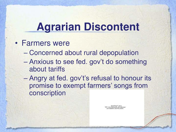 Agrarian Discontent