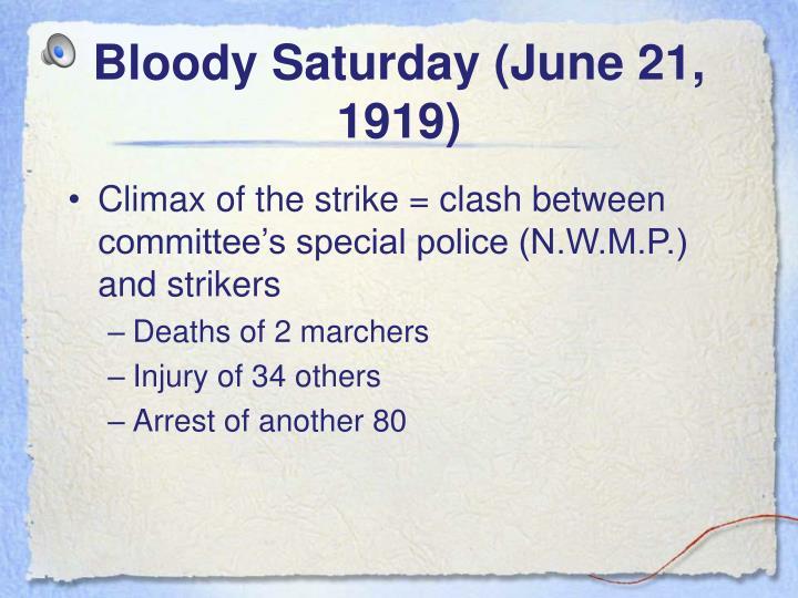 Bloody Saturday (June 21, 1919)
