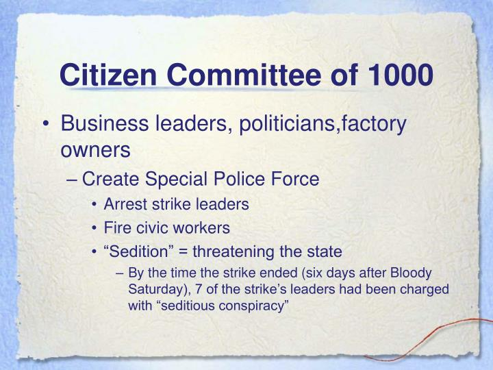 Citizen Committee of 1000