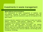 investments in waste management6