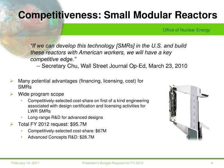 Competitiveness: Small Modular Reactors
