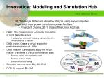 innovation modeling and simulation hub