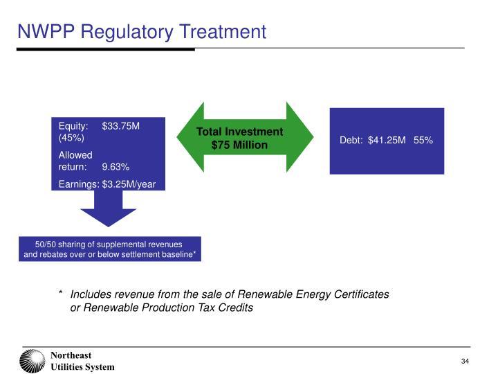 NWPP Regulatory Treatment