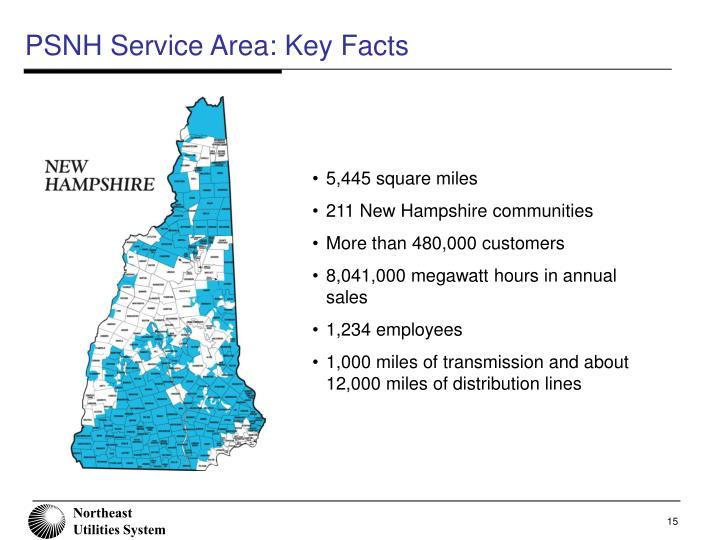 PSNH Service Area: Key Facts