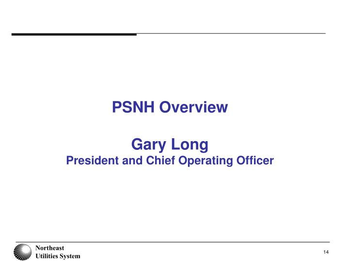 PSNH Overview