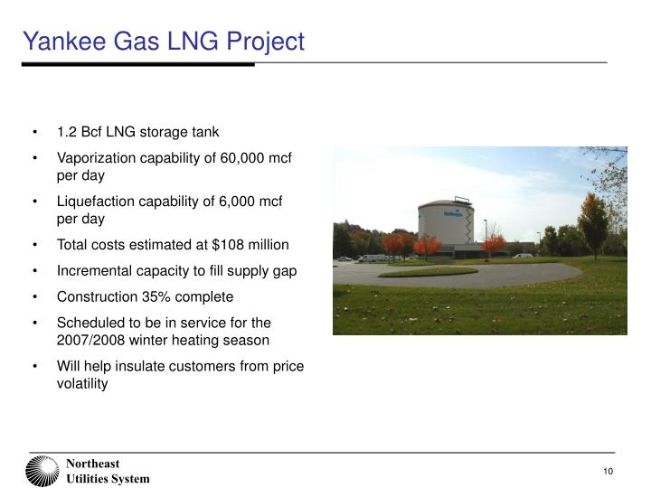 Yankee Gas LNG Project