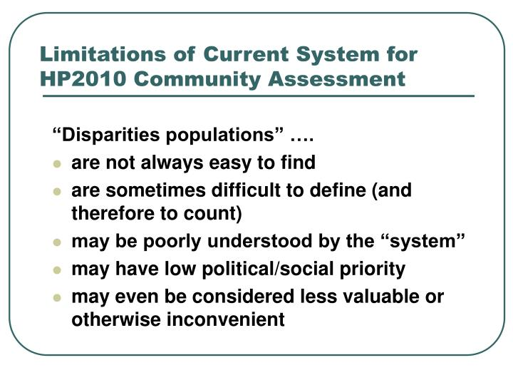 """Disparities populations"" …."