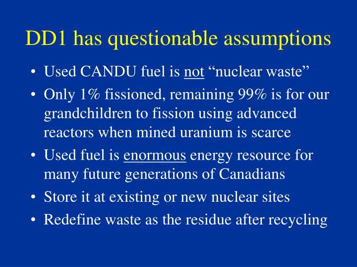 DD1 has questionable assumptions