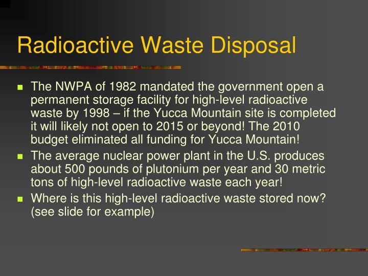 Radioactive Waste Disposal