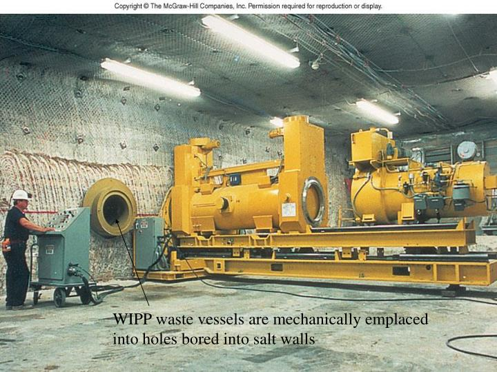 WIPP waste vessels are mechanically emplaced