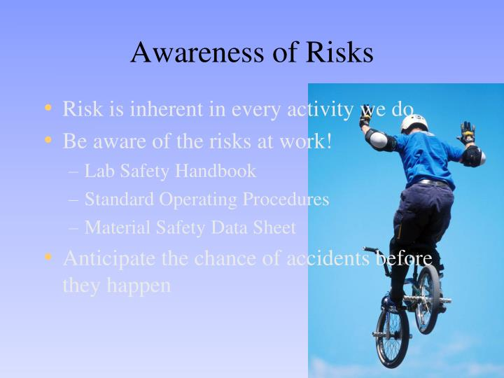 Awareness of Risks