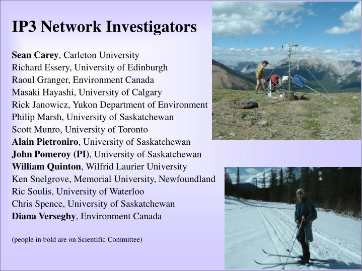 IP3 Network Investigators